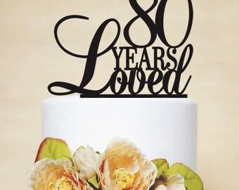 80th Anniversary Cake Topper80th Birthday Topper A024