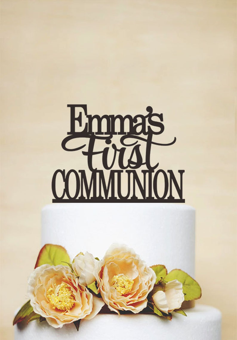 First Communion Cake TopperBaptism Cake Topper With image 0