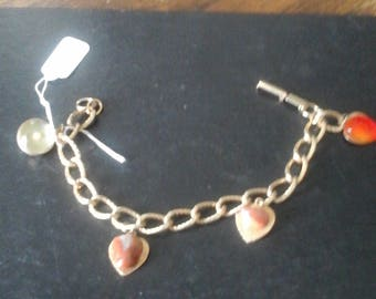 Vintage Charm Bracelet with Mustard Seed