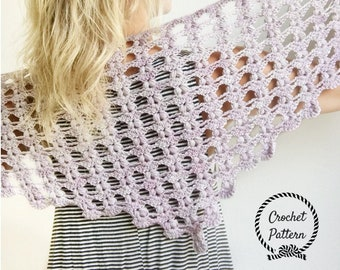 Iris Shawlette *Crochet Pattern PDF* . Triangle Scarf Crochet Pattern. Triangle Shawl Pattern. Easy Crochet Shawl Pattern. Shawls and Wraps