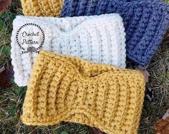 Essential Earwarmer Crochet Pattern **Pattern Only. Crochet Headband Pattern. Easy Crochet Earwarmer Pattern. Beginner Crochet Pattern.