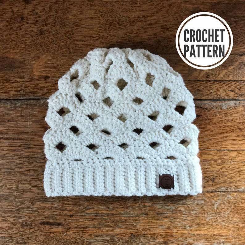 a7eb463bbe8b4 The Arcade Slouch Beanie Pattern Only. Crochet Slouch
