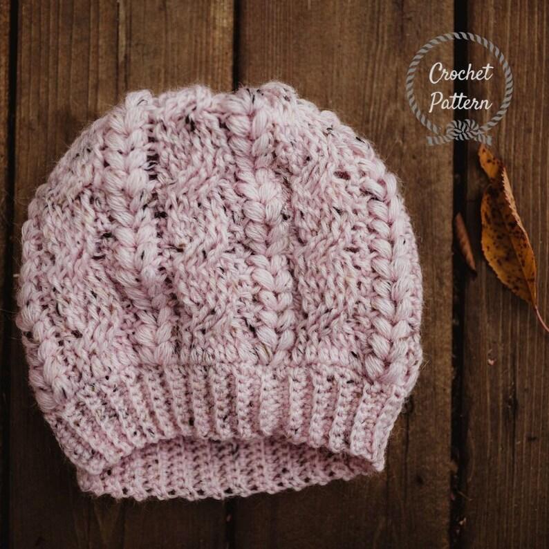 da8be67ba276d Serenity Beanie Pattern Only. Crochet Slouch Pattern.