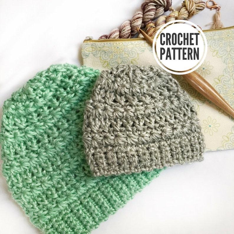 510b8d2493ba8 Star-Crossed Lovers Beanie Pattern Only. Crochet Beanie