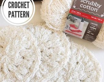 Crochet Scrubby Pattern. **PDF only*** Easy Pattern. Simple Scrubby. Dish scrubbie. Crochet pattern. Scrubby Yarn Pattern.