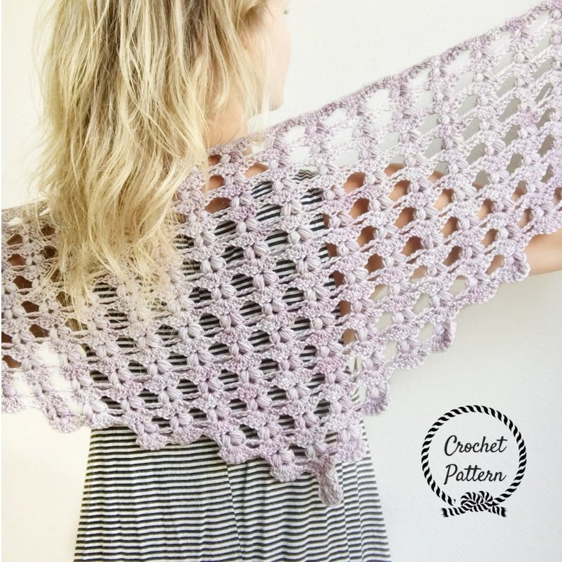 Iris Shawlette *Crochet Pattern PDF*   Triangle Scarf Crochet Pattern   Triangle Shawl Pattern  Easy Crochet Shawl Pattern  Shawls and Wraps