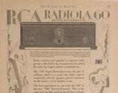 1929 RCA Radio quot Radiola 60 Super Heterodyne 106 Electro Dynamic Speaker quot Vintage Ad