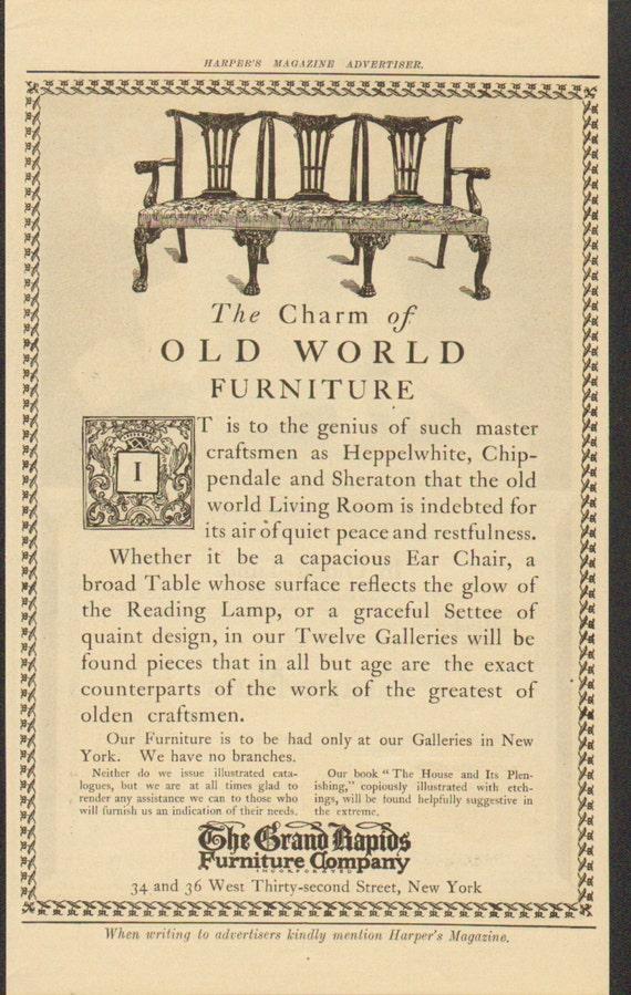 1912 The Grand Rapids Furniture Company, Grand Rapids Furniture