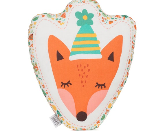 FREE SIPPING Fox Pillow, Animal Pillow, Fox Cushion, Fox Plush Toy, Kids Pillows, Decorative Pillow, Kids Room Decor, Baby Bedding