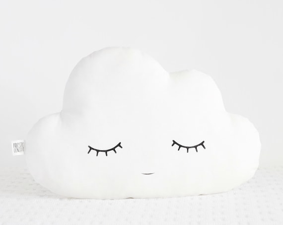 Cloud pillow Cloud cushion White nursery decor baby pillow personalized baby gift name pillow baby shower gift for kids pillows name pillow
