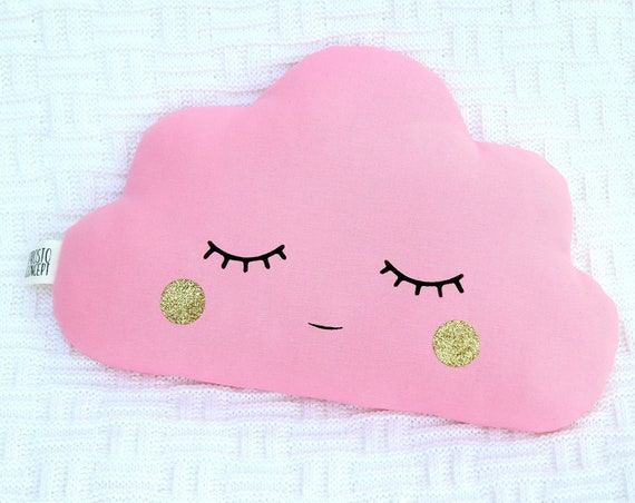 Bright Pink Cloud Pillow, Baby Cushion