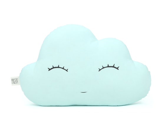 Mint Cloud Cushion, Baby Pillow, Nursery Decor