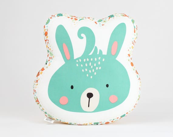 Bunny Pillow, Animal Pillow, Bunny Cushion, Bunny Plush Toy, Kids Pillows, Decorative Pillow, Kids Room Decor, Baby Bedding