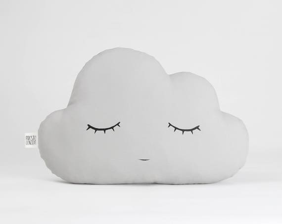 Gray Cloud Cushion, Kids Pillow, Nursery Decor
