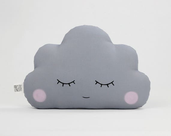 Gray Cloud Cushion, Baby Pillow, Nursery Decor