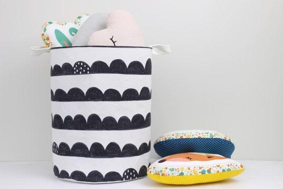 Large Laundry Hamper, Laundry Basket, Toy Storage, Nursery Fabric Basket, Storage Bin, Toy Basket, Nursery Storage