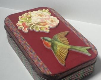 Post card trinket box