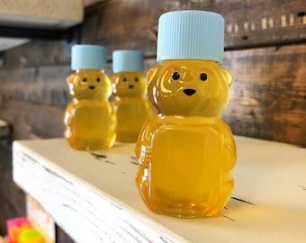 Cute 2 oz Mini Honey Bear Favor with Pure U.S. Honey (Blue Cap)