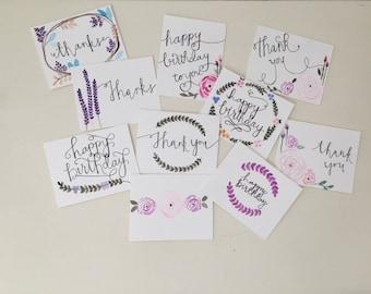 Hand Painted   Watercolor   Variety Greeting Card Set