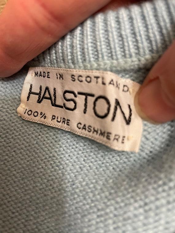 Vintage 1970s Authentic Halston Cashmere Cardigan… - image 5