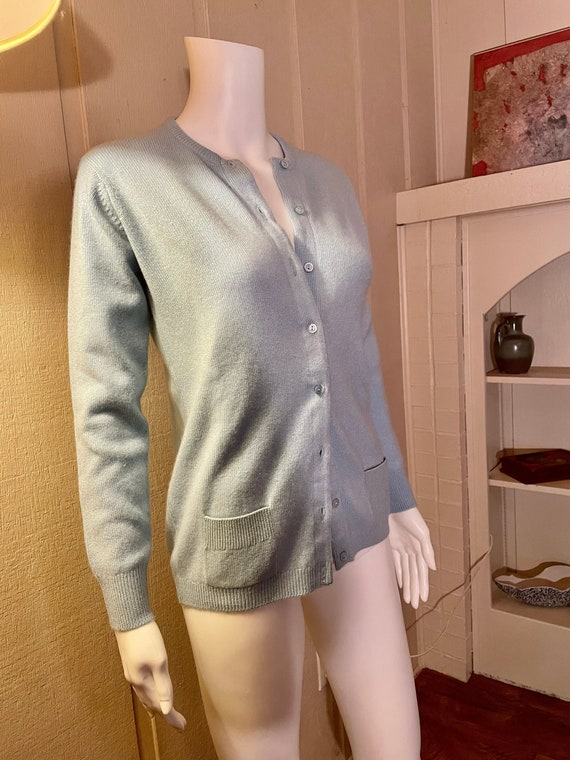 Vintage 1970s Authentic Halston Cashmere Cardigan… - image 3