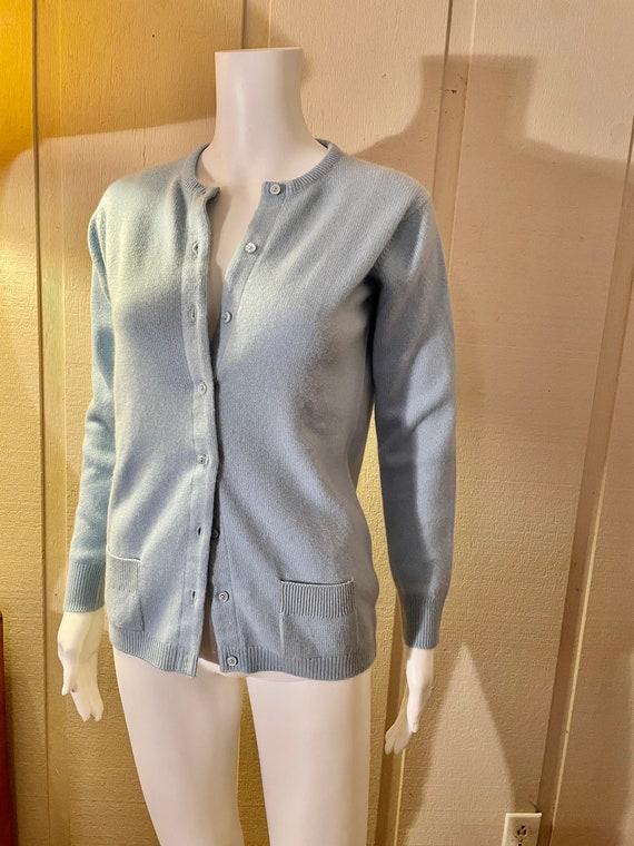 Vintage 1970s Authentic Halston Cashmere Cardigan… - image 2