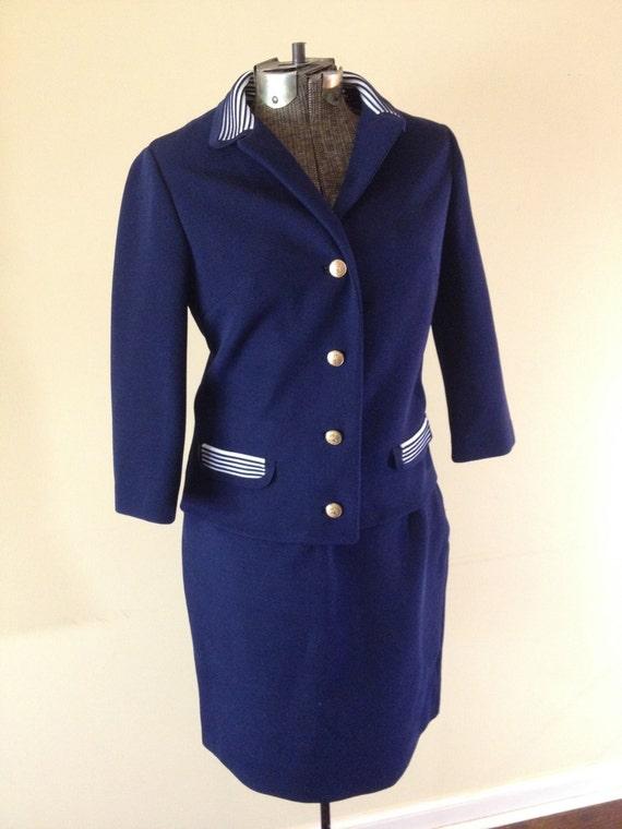 Vintage 1960 S Mad Men Dress Suit 2 Piece Square Cut Etsy