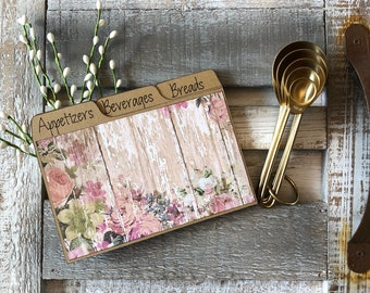 Recipe Card Dividers 3x5, 4x6, Country, Rustic, Wood