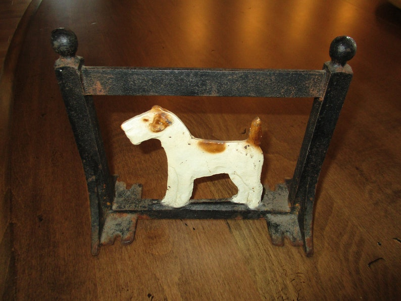 SCOTTIE DOG SCOTTISH TERRIER Cast Iron BOOT SCRAPER ~ GREAT DOORSTOP TOO ~