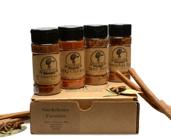 Smokehouse Favorites  BBQ Rub and Baking Spices Gift Set of 4