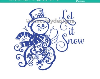 Snowman Filigree .SVG Cutting File Instant Download