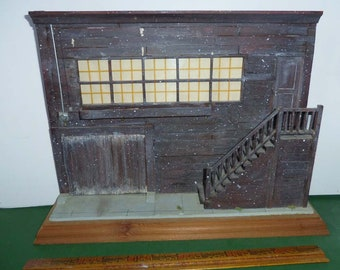 """Miniature Edward """"Doc"""" Ricketts Cannery Row Pacific Biological Lab Facade by Monterey artist Snick Farkas"""