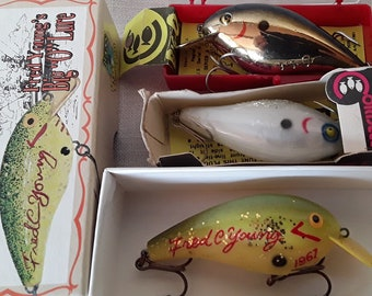 45418d84 Cordell Big-O Vintage Fishing Lures new in box, Series 8015, 8003, and 25th  Anniversary of BASS
