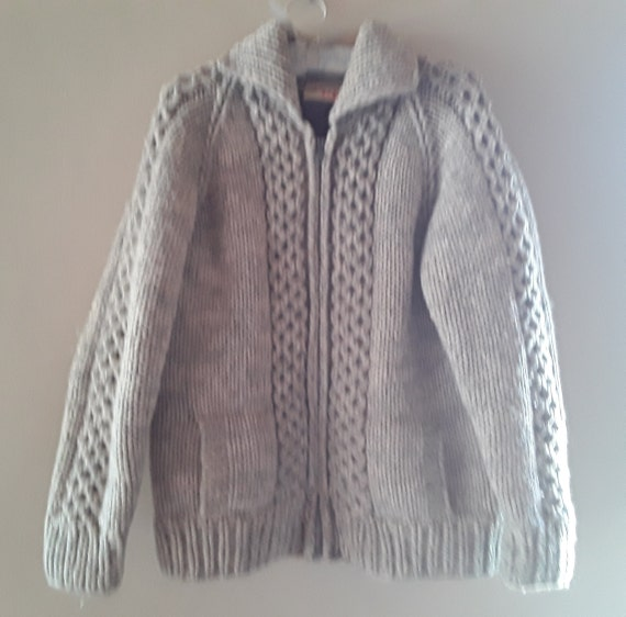 Vintage Tuak hand knit wool sweater