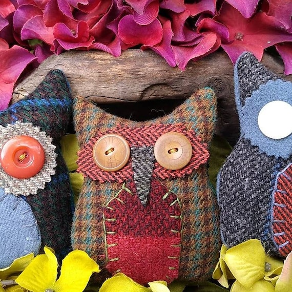 Primitive Hoot Owl trio