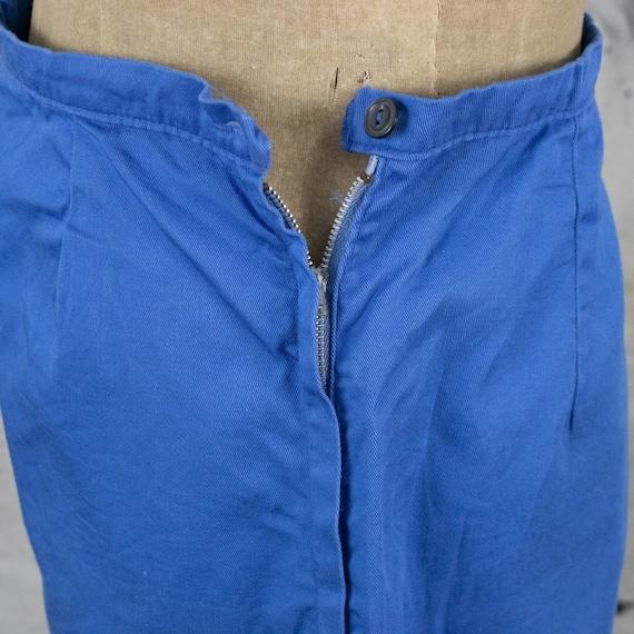 Vintage Womens 40s Size 28 High Rise Blue Denim S… - image 4