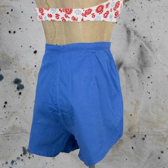 Vintage Womens 40s Size 28 High Rise Blue Denim S… - image 2