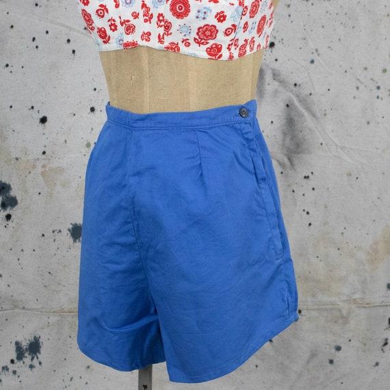 Vintage Womens 40s Size 28 High Rise Blue Denim S… - image 1