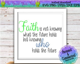 Faith Is Not Knowing Etsy