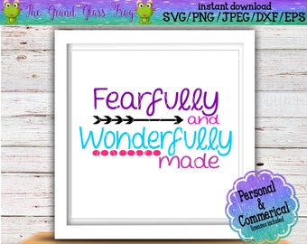 fearfully and wonderfully made svg svg file svg files quote svg quotes svg bible verse svg christian svg
