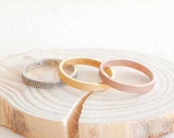 Skinny Fingerprint Ring • Fingerprint Jewelry • Custom Baby Fingerprint Ring • Wedding Band • Personalized Gift • MOTHERS GIFT• RM22F31