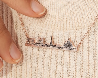 Custom City Necklace • Skyline Necklace • Cityscape Necklace • Perfect Travel Lover Gift • Personalized Gift For Her • Birthday Gift • NM64