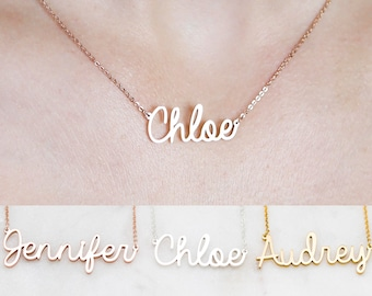 Custom Name Necklace • Children Necklace • Sterling Silver Necklace • Baby Shower Gift • Bridesmaid Gift • Mom Gift • NH02F52