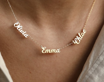 Perfect Gift for Mom • Family Name Necklace in Gold, Silver, Rose • Children Names Necklace • Mothers Necklace • Mothers Day Gift • NH05F97
