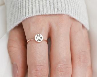 Custom Paw Print Ring • Your Actual Pet Print Ring • Personalized Fingerprint • Cat Print Jewelry • Pet Lover Gift • Pet Memorial • RM20.1