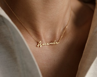 Personalized Name Necklace • Minimalist Name Necklace by CaitlynMinimalist • Personalized Gift • Gift for Her • NH02F78
