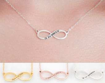 Infinity Jewelry • Silver Infinity Summer Necklace • Custom Family Sisters Charms • Personalized Infinity Gift • MOTHERS DAY GIFT • NM36F30