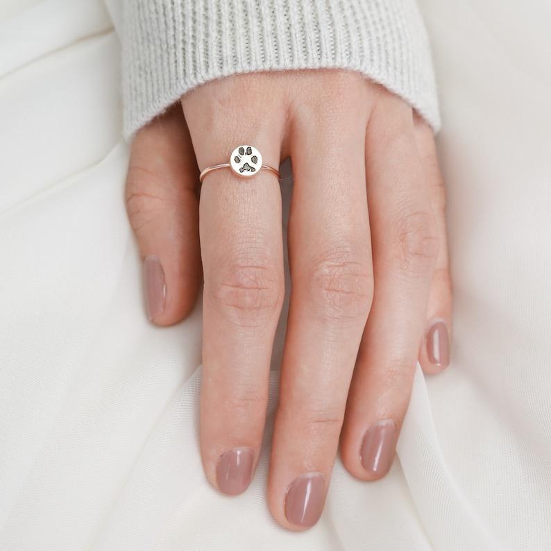 Custom Paw Print Ring • Your Actual Pet Print Ring • Personalized Fingerprint • Cat Print Jewelry • Pet Lover Gift • Pet Memorial • RM20.1 photo