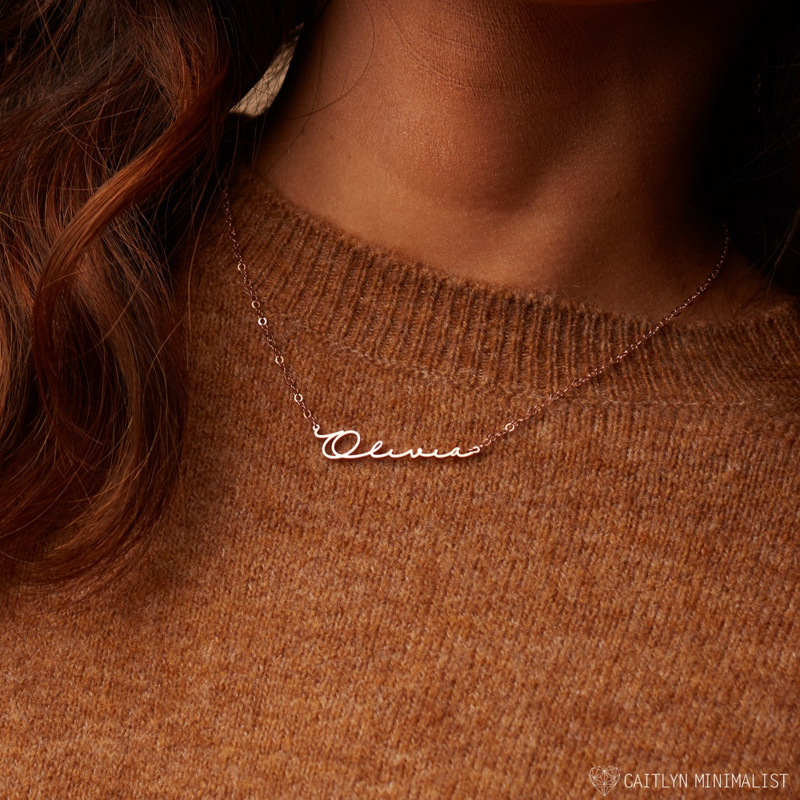 Perfect Gift for Her  Minimalist Name Necklace by image 0