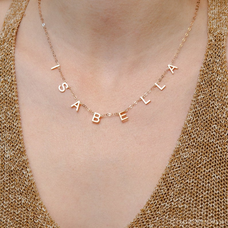 Letter Necklace  Custom Name Necklace  Initials Necklace  image 0